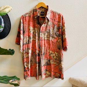 HARLEY DAVIDSON Hawaiian shirt pink L